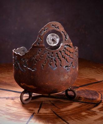 Kerzenfresser mit Murano-Glas